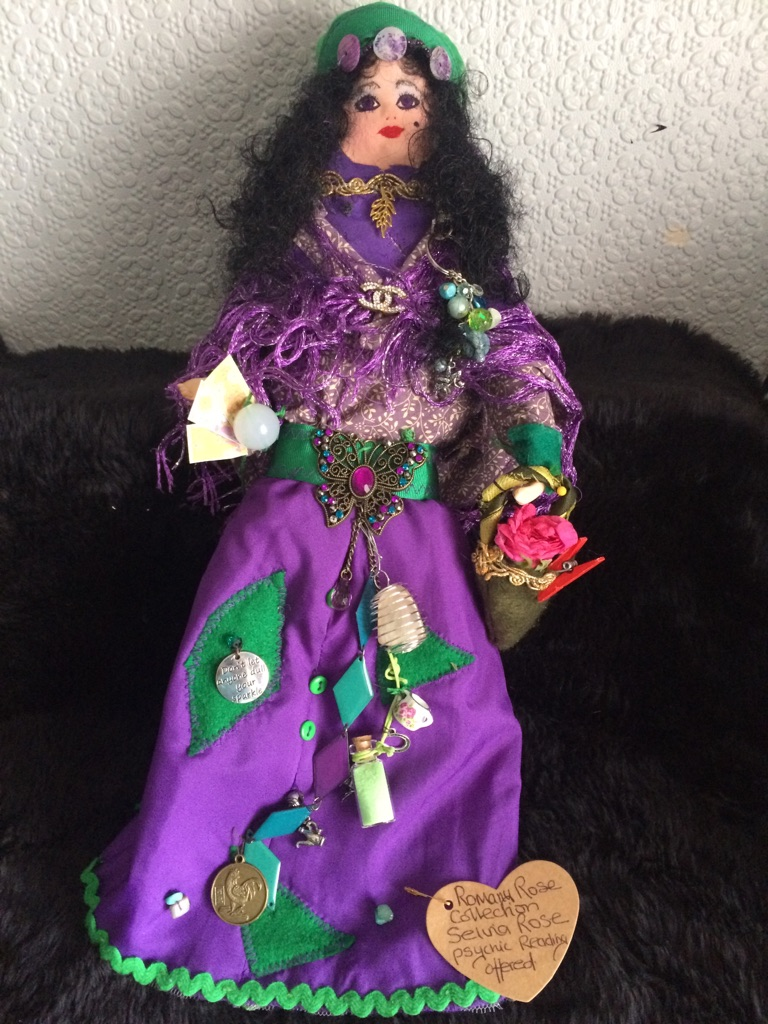 Psychic email reading plus Romany Rose doll