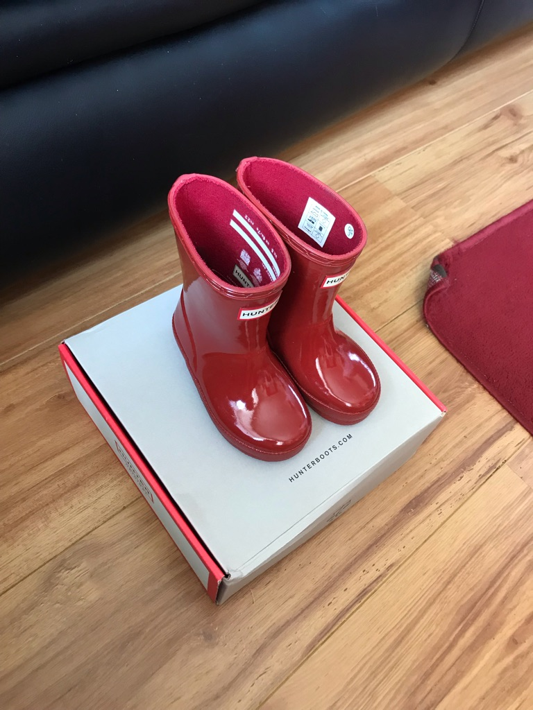 Hunters wellies size 5 infants