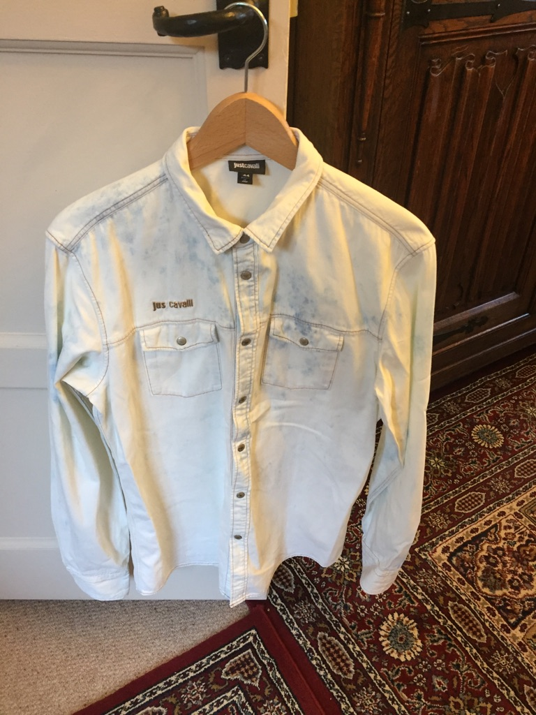 Just Cavalli washed out denim shirt size 12