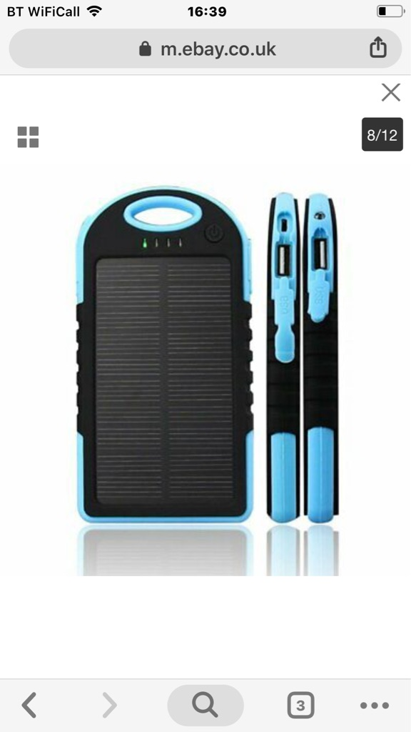 Solar power pack usb not used