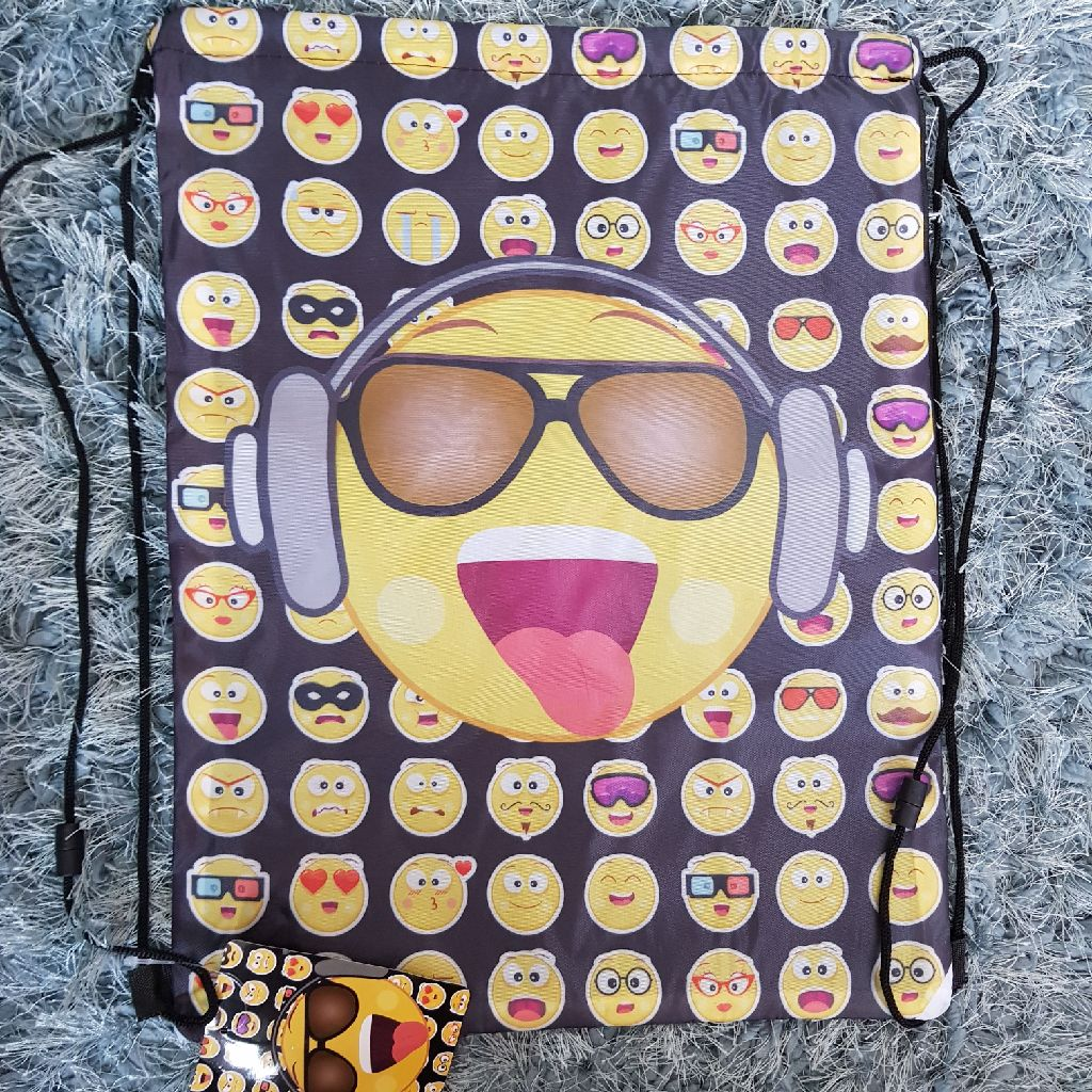 Brand new emoji drawstring bags