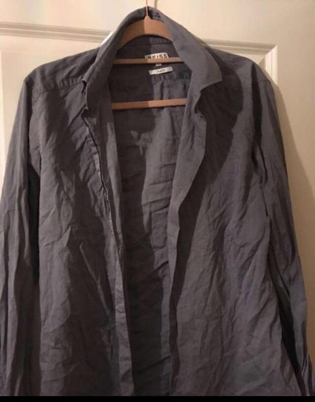 Men's large slim fit shirts