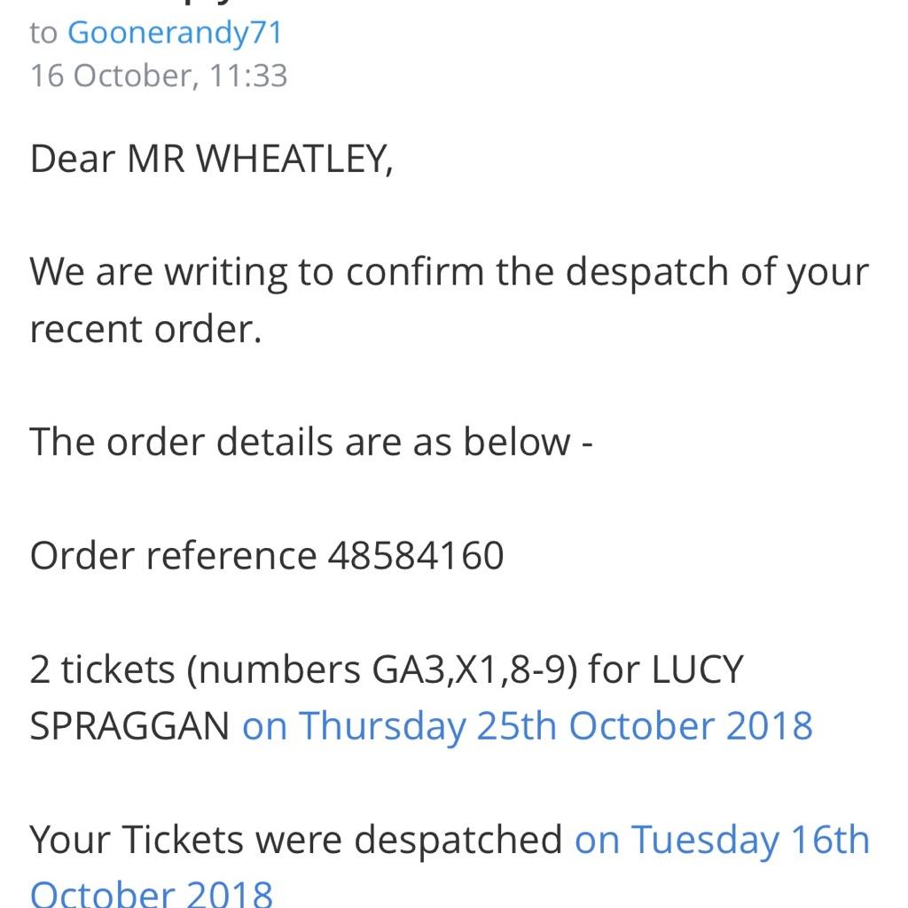 2 x Lucy Spraggan Tickets Live @ Shepherds Bush Empire 25th October 2018