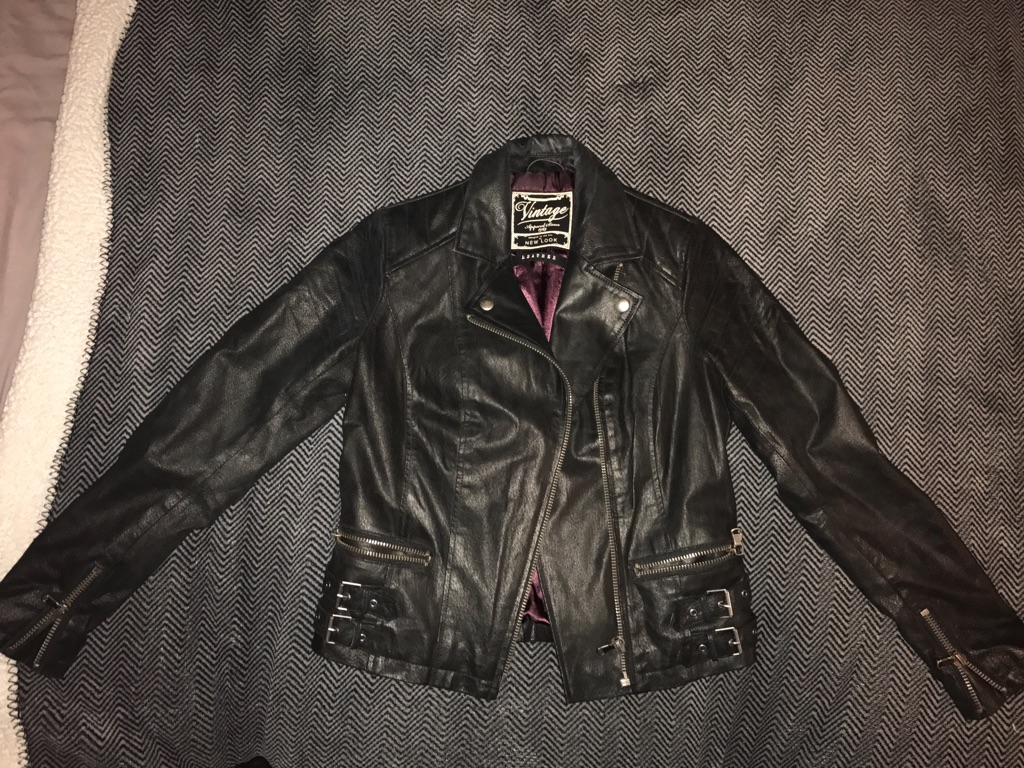 New Look LEATHER jacket size 10
