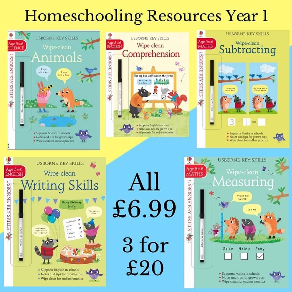 Homeschooling resources for year 1