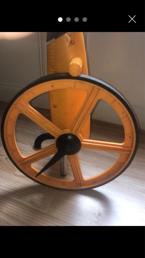 Electronic distance measuring wheel.