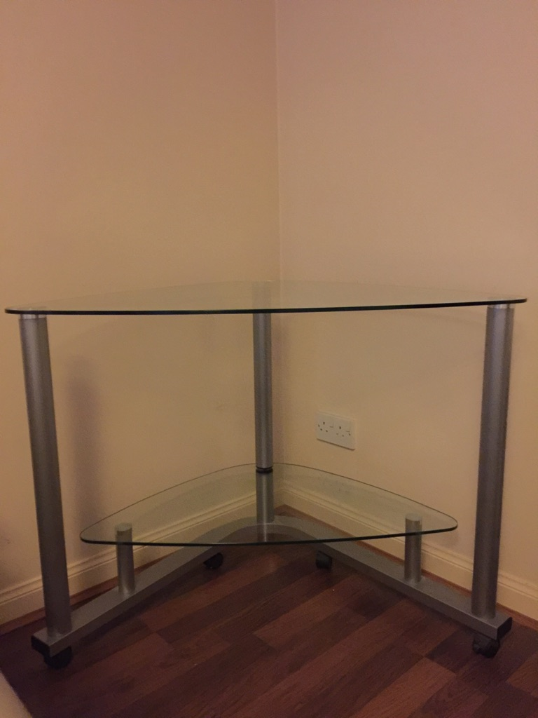 Glass corner table/stand from Argos