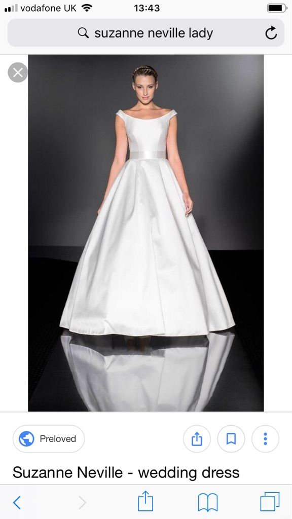 Suzanne Neville Wedding Dress Size 8 Lady