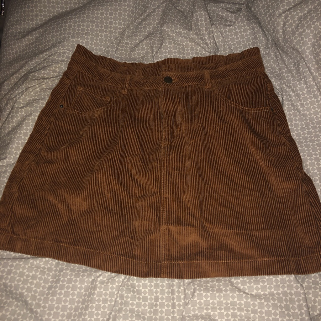 Brown denim skirt size 14