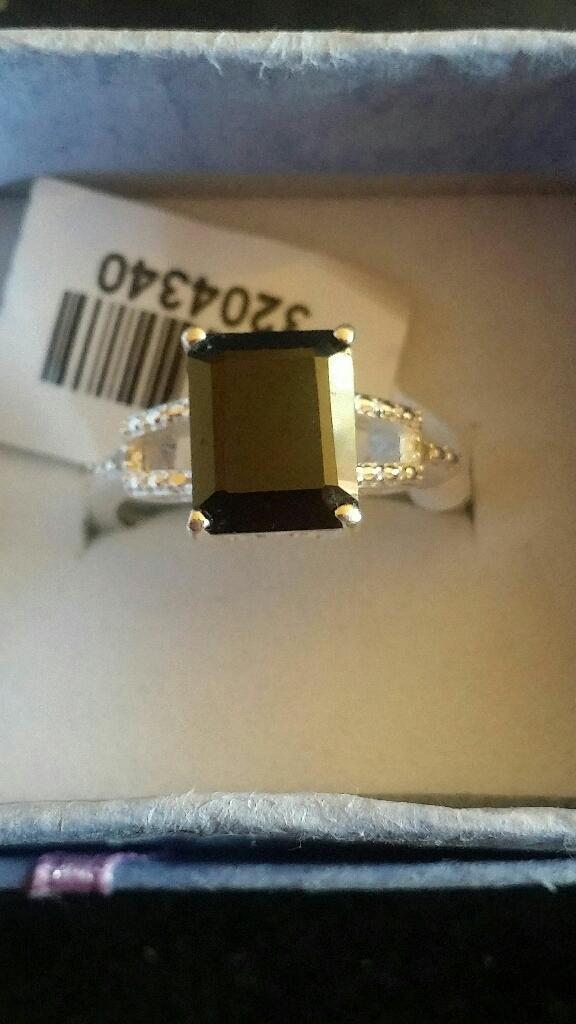 Sterling silver Black Spinel ring