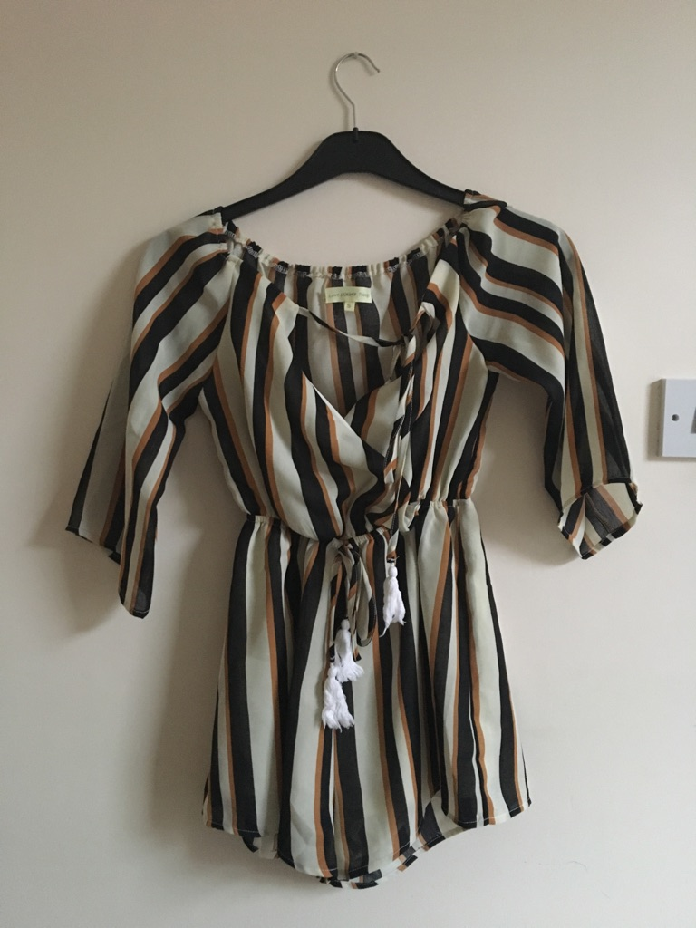 Stripey playsuit