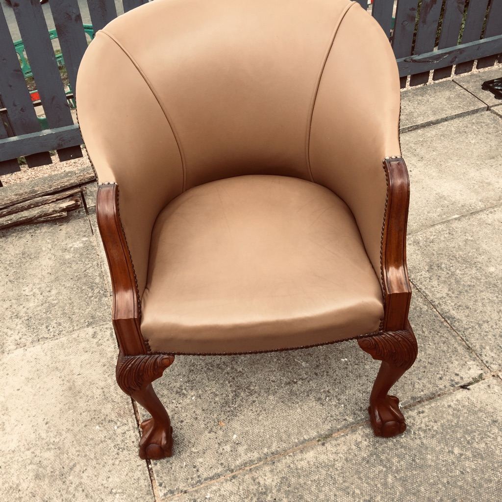 Ball & Claw leather chair