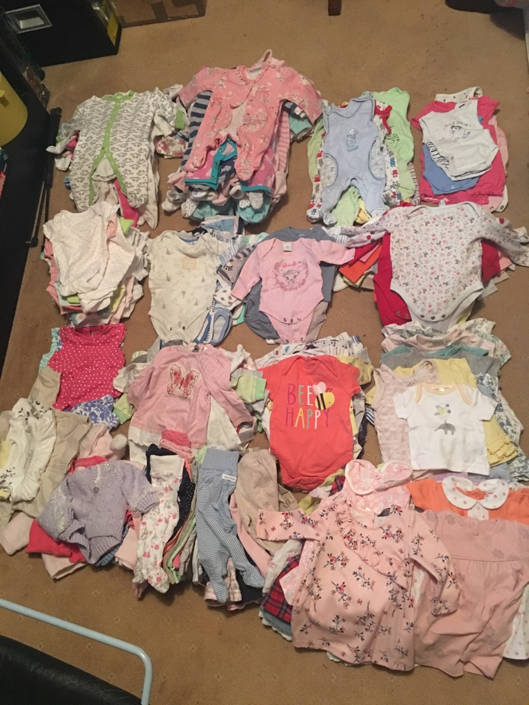 Baby clothes bundle 0-3 months girls and boys mix