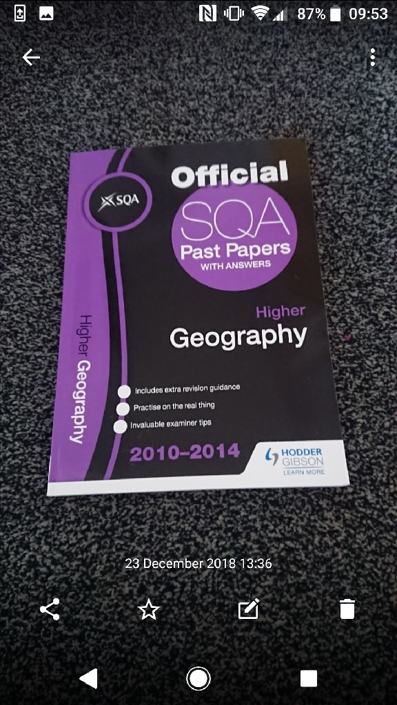 SQA Textbooks Geography and Maths