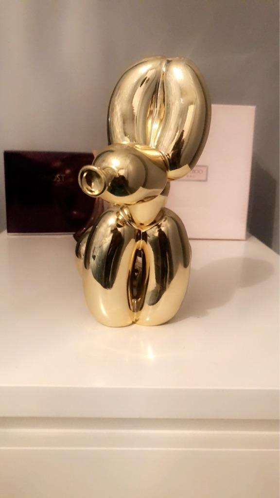 Gold Squatting Balloon Dog Statue