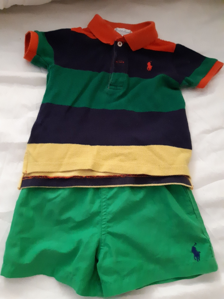 Ralph Lauren polo and shorts