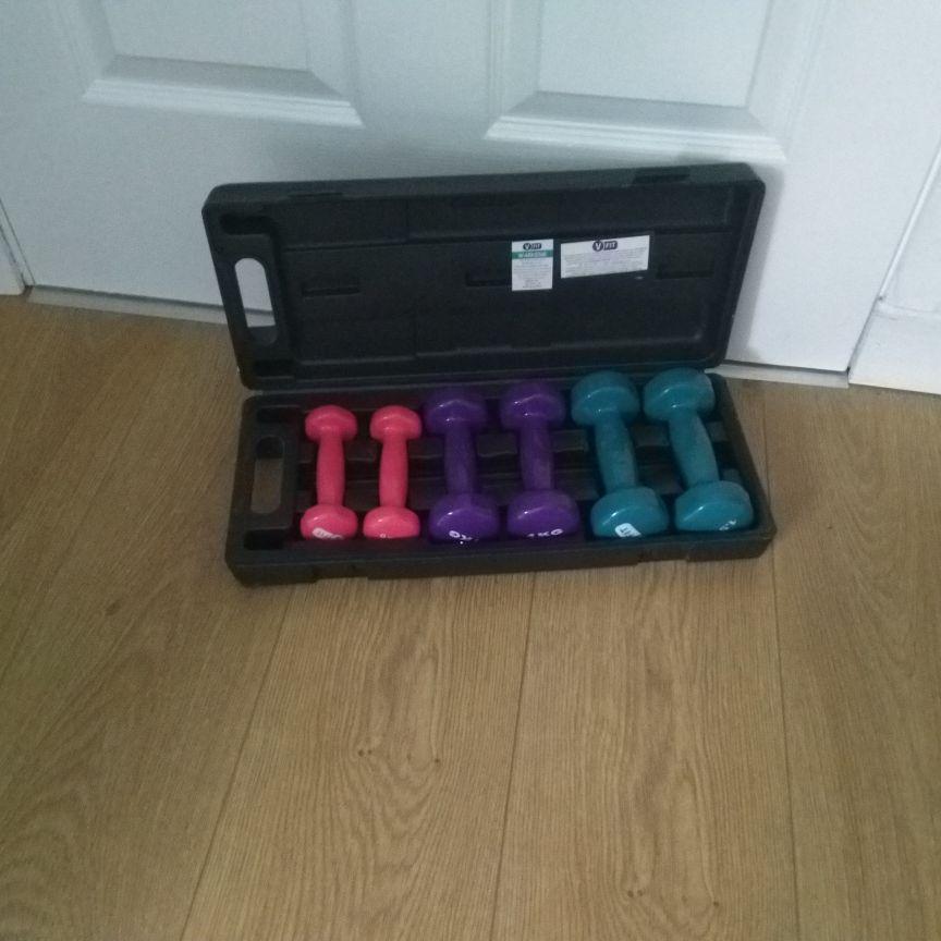 Dumbell case set - 6kg