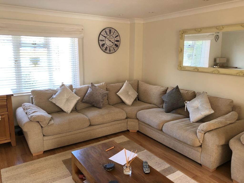 Large corner sofa and chair