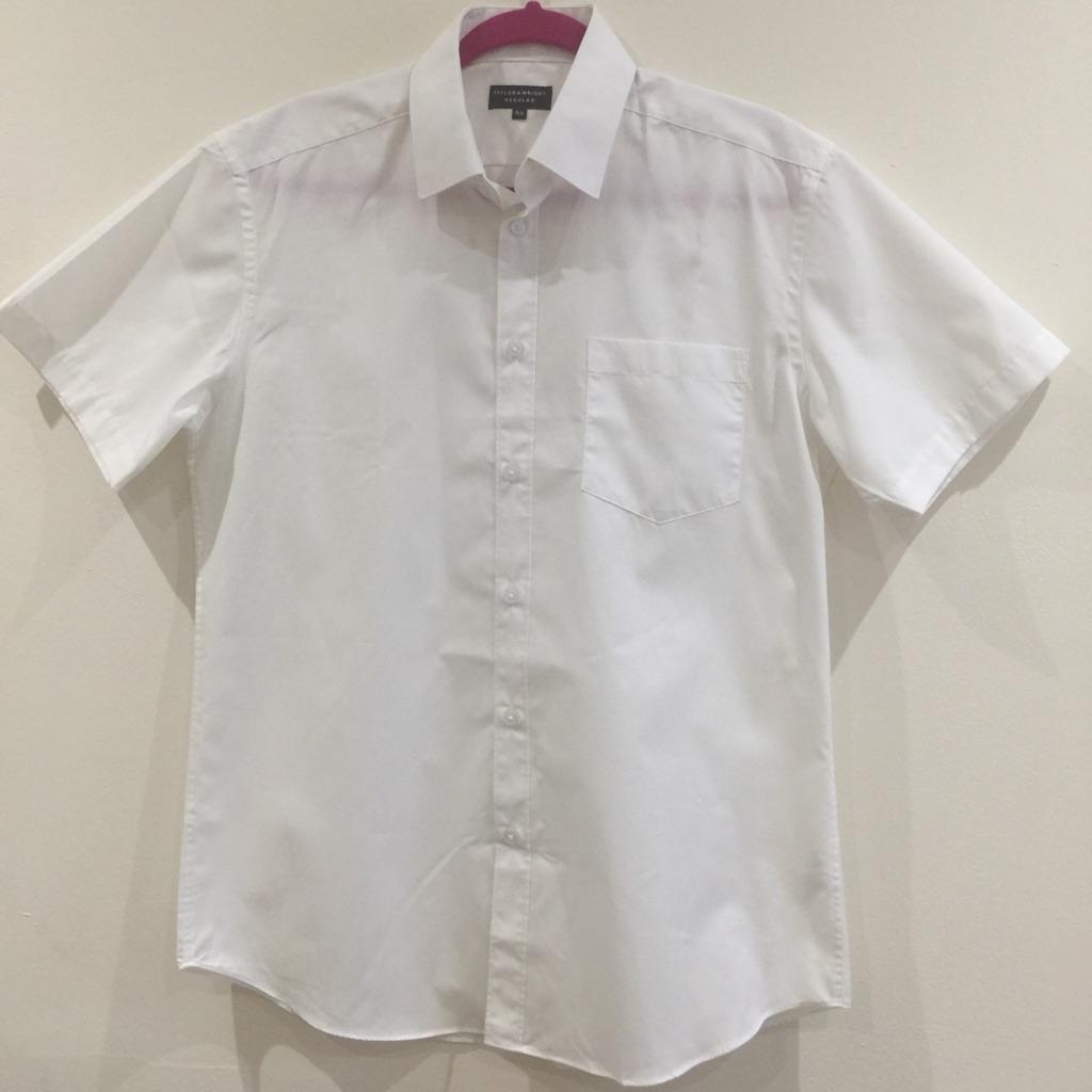 Short-sleeved white shirt (15.5in)