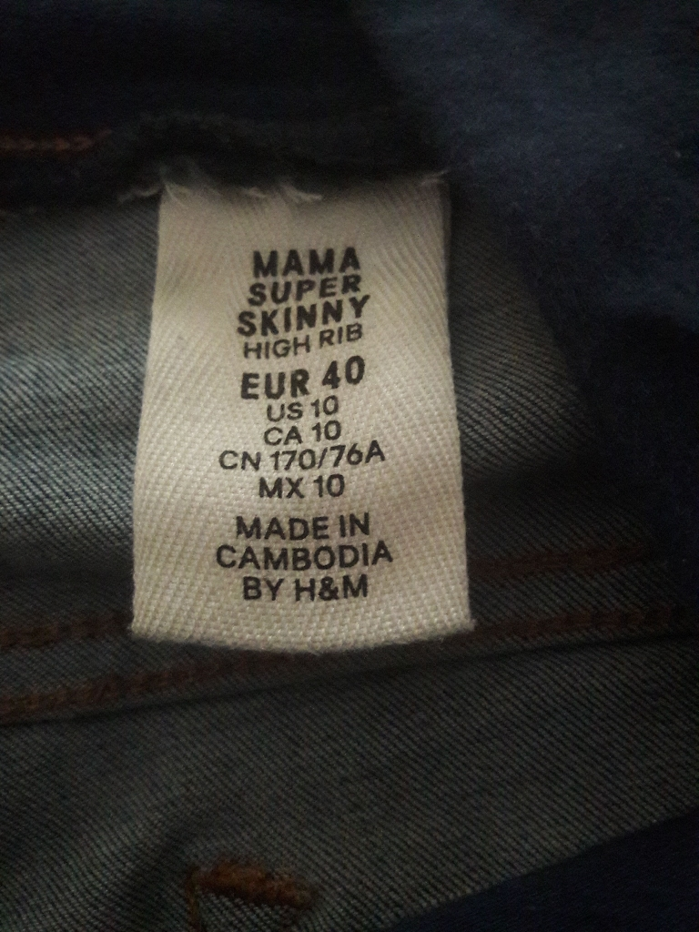 Marnity  jeans size 14 .