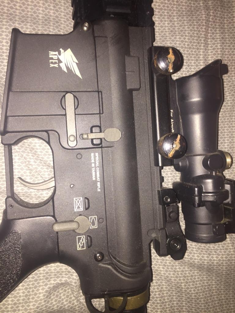 M416 air soft rifle