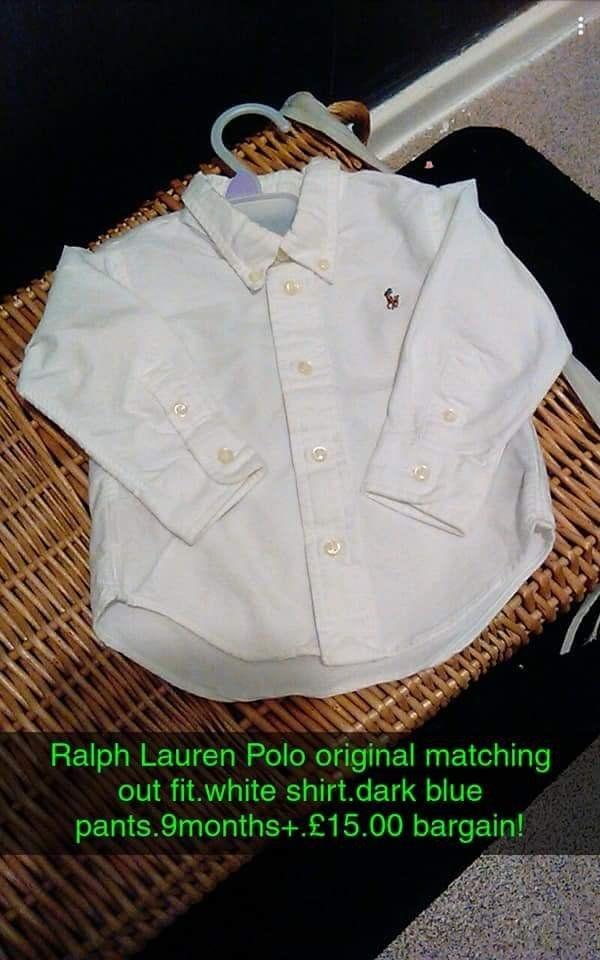 9_12 monthd Ralph Lauren Polo shirt and pants