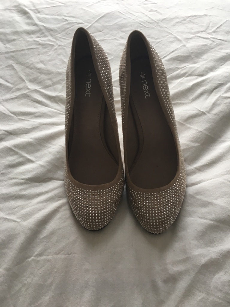 BNWT Nude and silver stud shoes
