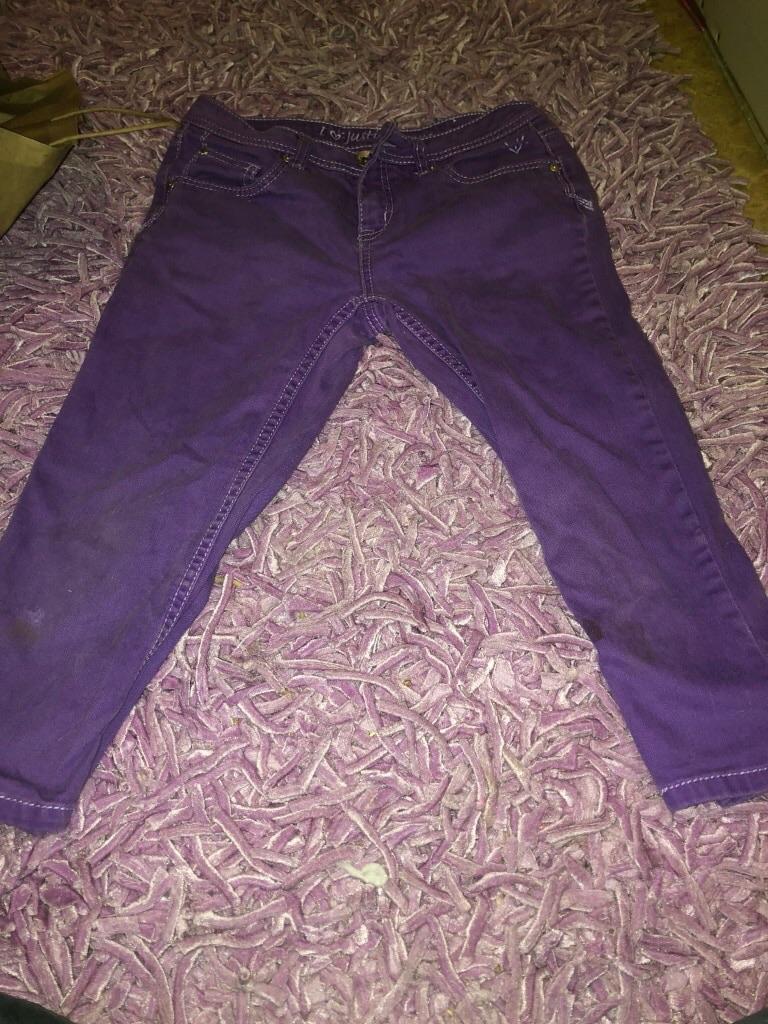 Justice purple jeans