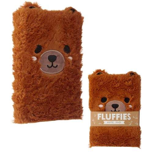 Fluffy plush notebook- cute bear design