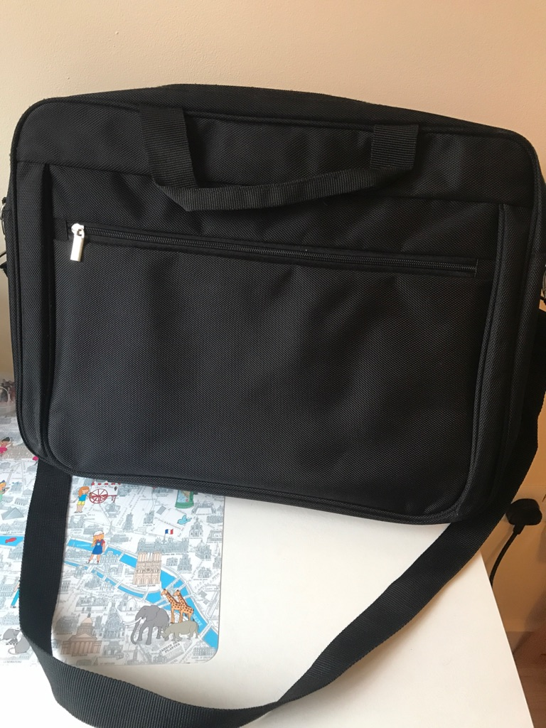 15.6+ inches laptop bag, with extra pockets and strap