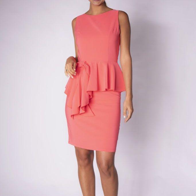 Waist frill dress
