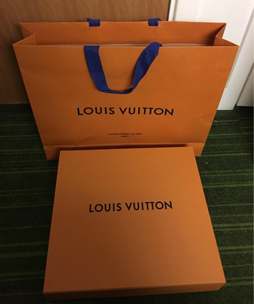 Louis Vuitton orange gift bag & box