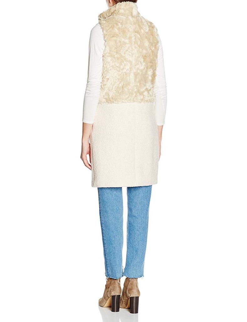 03b263bcdb994 ... New Look Women s Half Faux Fur Sleeveless Coat Size ...