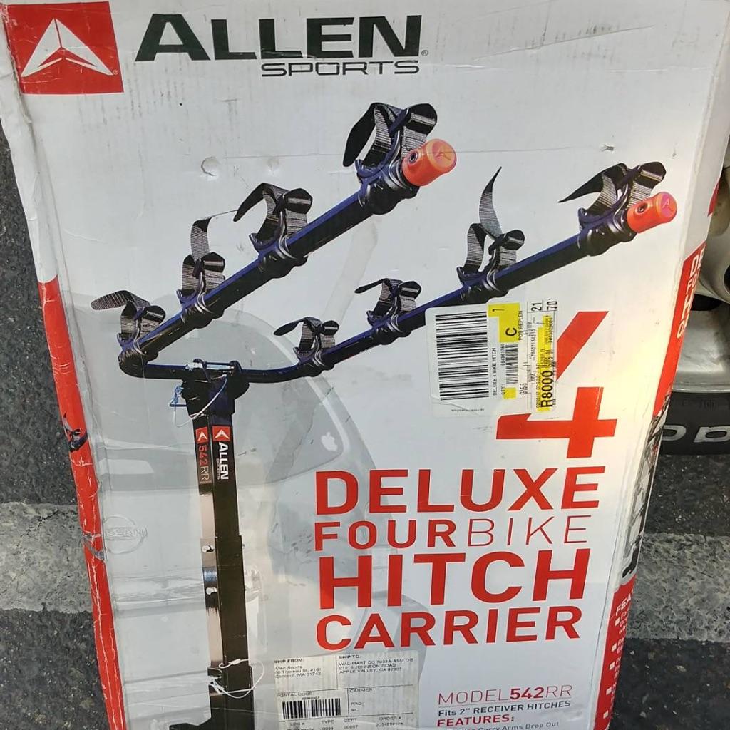 Four hitch bike rack