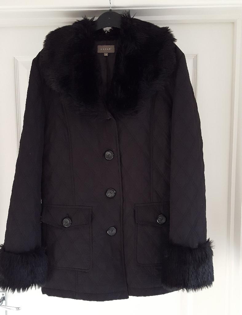 Black quilted coat