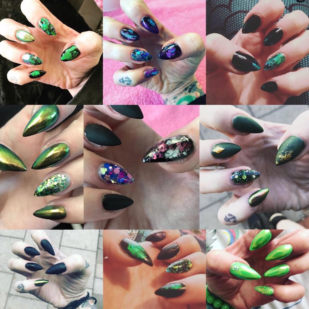 Alternative acrylic nails