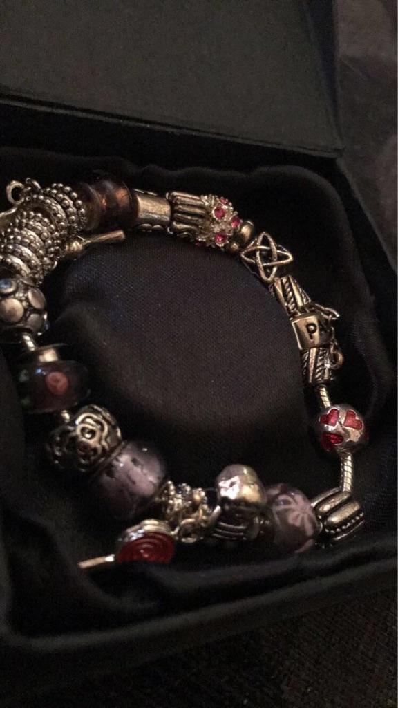 pandora bracelet, all charms