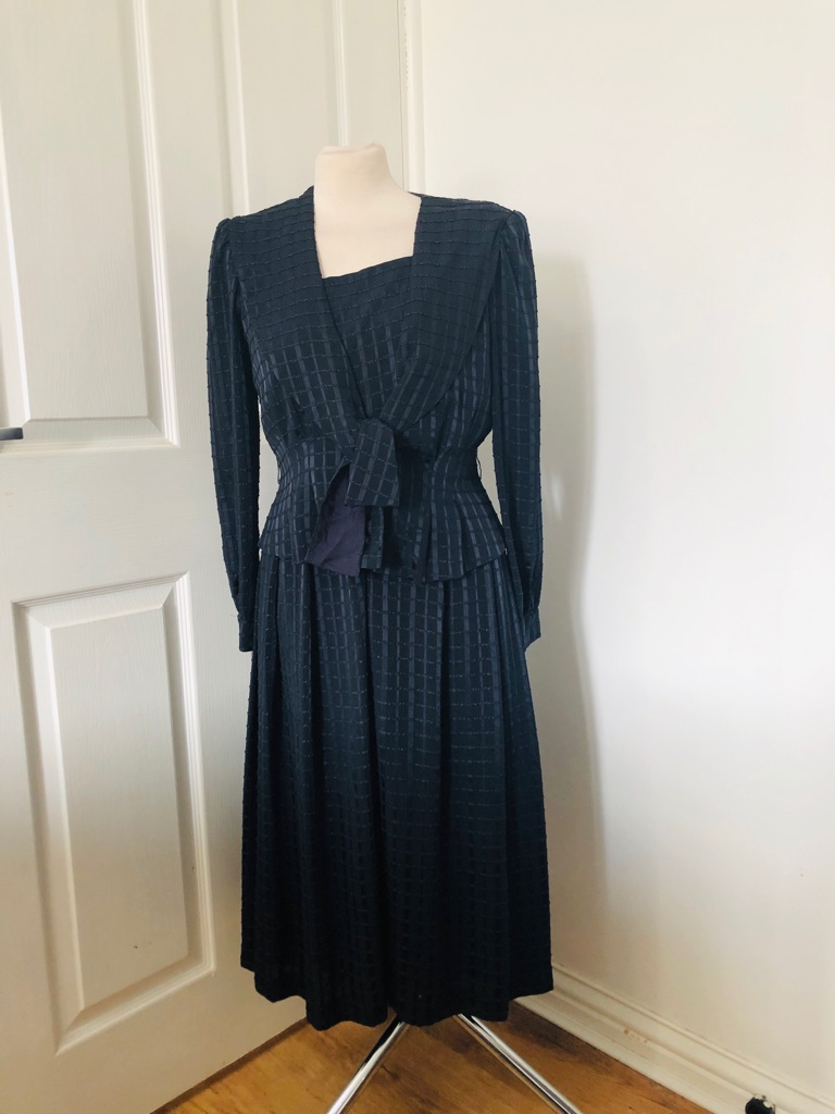 Women's blue vintage dress by UG size 12