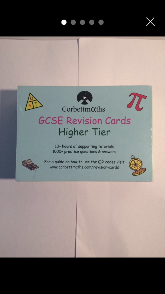 GCSE Maths Revision Cards (90)