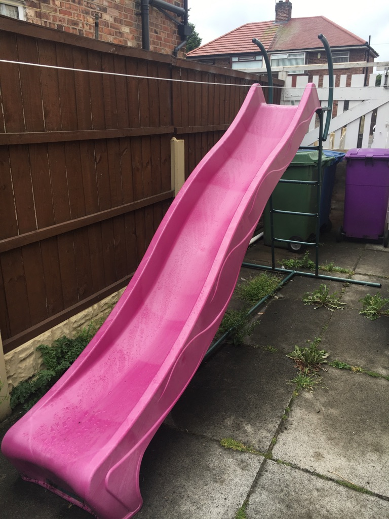 Large wavy pink slide