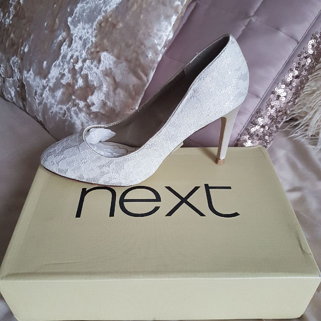 Next ivory lace shoes