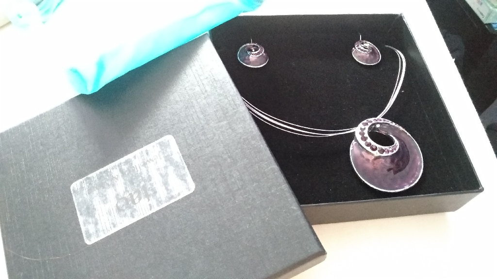 Custom Purple Enamel Jewellery Set