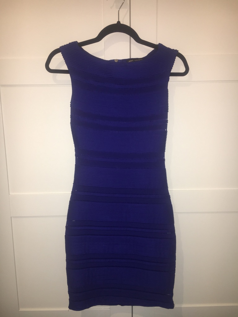 Lipsy London Michelle Keegan Blue Bodycon Dress