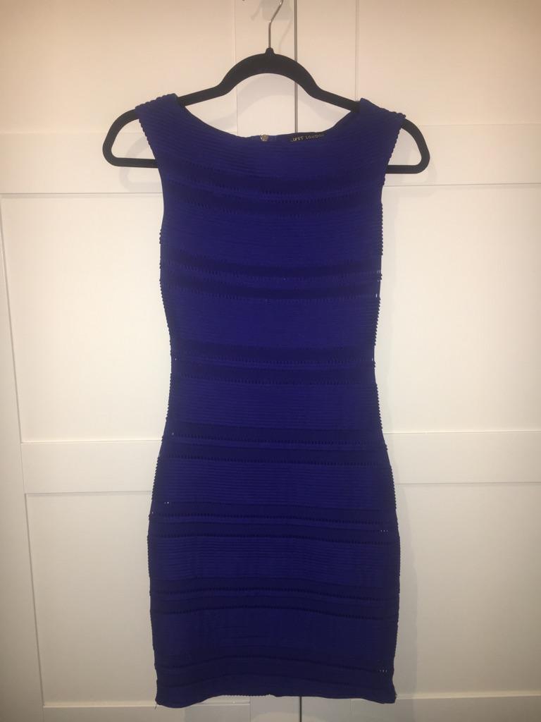 Lipsy London Michelle Keegan Blue Bodycon Dress