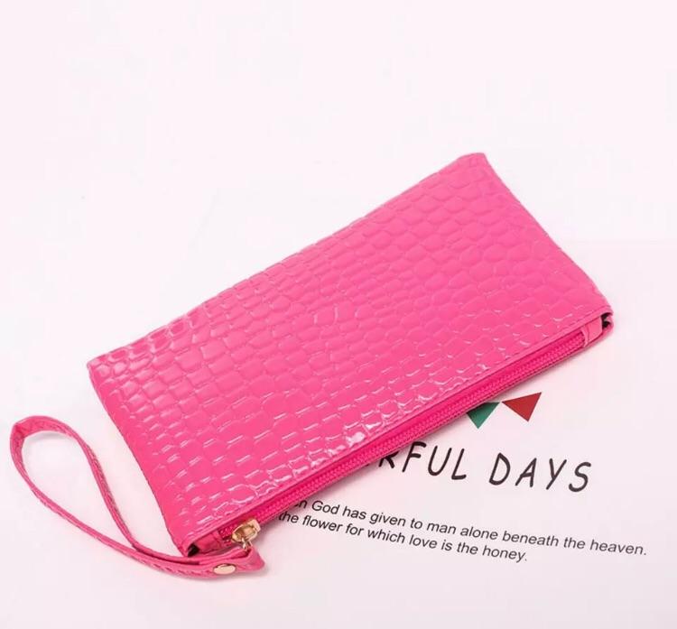 Ladies pink coin bag purse