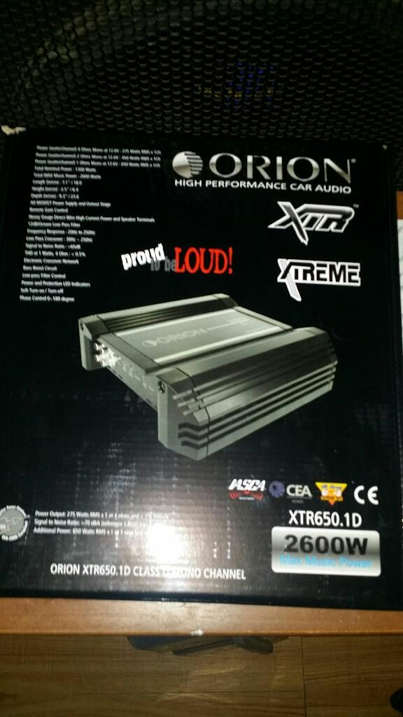 New in box orion amplifier 2600 watts