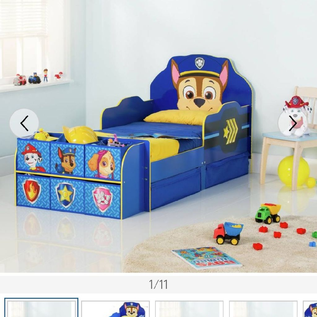 Paw patrol toddler cube bed