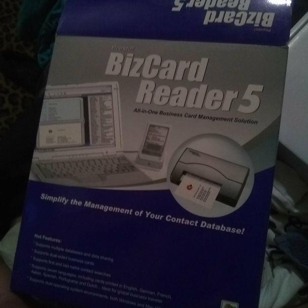 Bizcard reader 5
