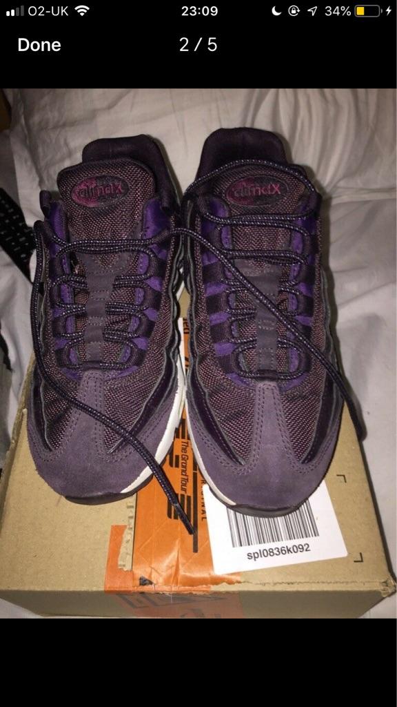 Size 4 Nike airmax 95 purple