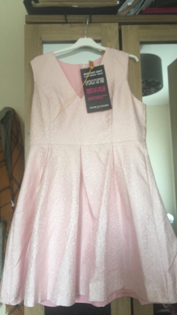Pretty pink skater dress